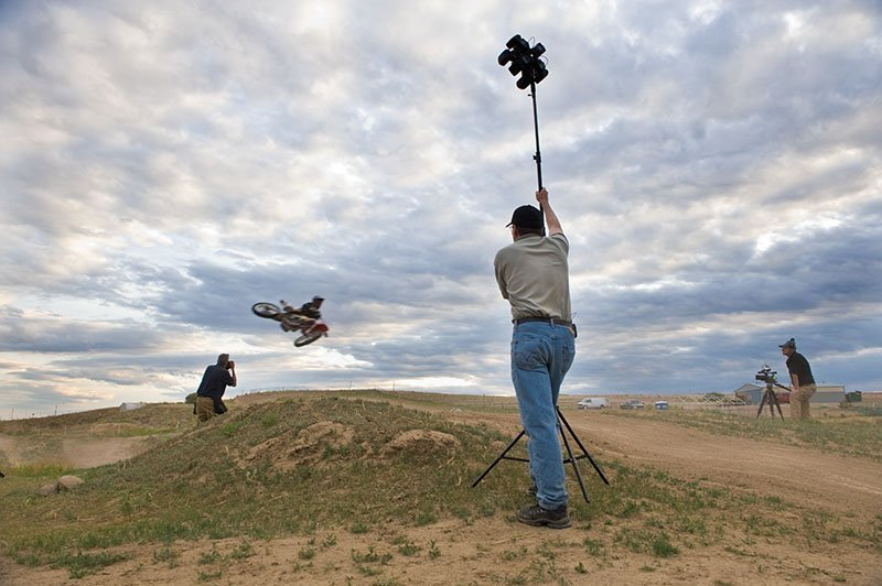 Behind the scenes with Paul and Dave Black shooting motocross