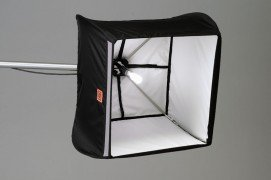FourSquare 20x20 softbox with a dyna-lite pencil tube inside