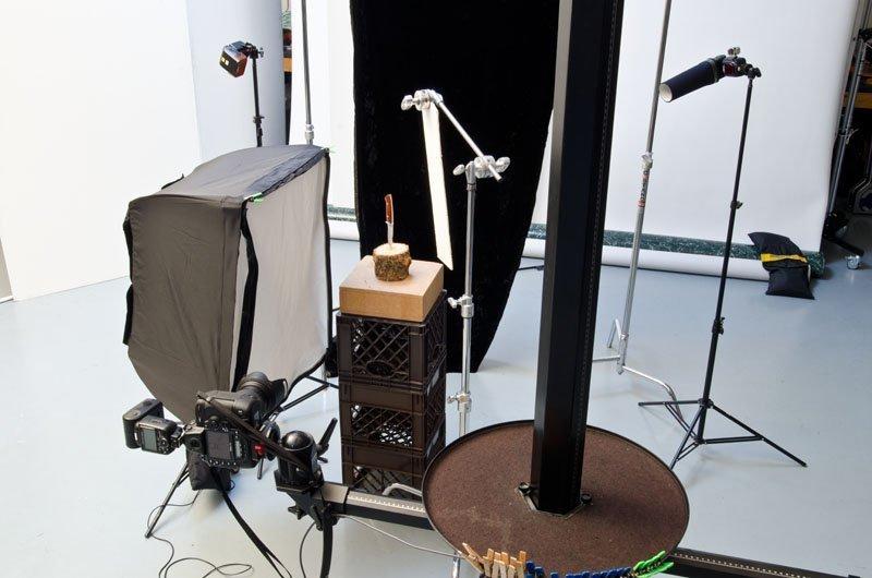 Speedlight studio setup
