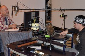 photo-of-dr-dan-recording-voice-over-for-foursquare-video
