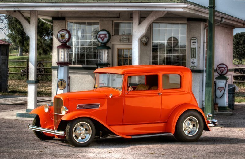 HDR Photo Of A Classic 1931 Ford Victoria