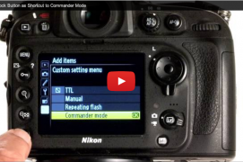 Video - AE/AF Lock Button as Shortcut to Commander Mode