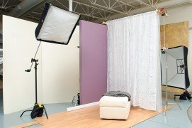 This is a simple set to replicate the soft light that comes in through a sheer window covering